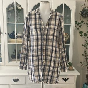 FREE PEOPLE CP SHADES flannel top